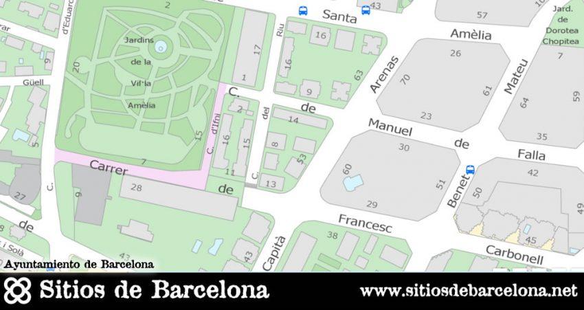 Mapa y localización de Jardins de Vil·la Amelia